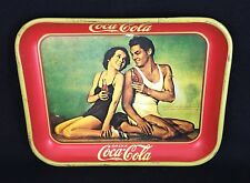 Coca Cola 1934 Reproduction Serving Tray Johnny Weissmuller Maureen O'Sullivan