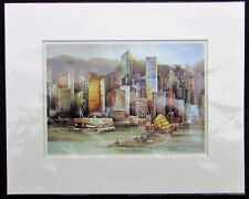 Chan Ka Yee - Hong Kong Skyline Print - Tan Ching Seaside Art Gallery