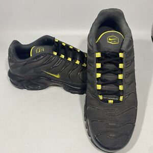 Nike Air Max Plus TN Black/Yellow Shoes C12299-002 Men's Size 10