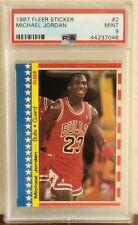 1987/88 Fleer Basketball #2 Michael Jordan Sticker PSA 9