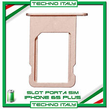 "SIM Card Tray Slot Porta Scheda Vassoio SLOT per iPhone 6S PLUS 5.5""RED ROSE"