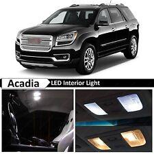 White Interior + License Plate LED Light Package Kit 2008-2015 GMC Acadia