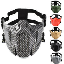 Airsoft Mask Tactical Paintball Half Face Warrior Protective Mouth Mask Hunting