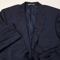 Canali Mens Wool Suit Separate Jacket Size 52R (42US) Solid Dark Blue Made Italy