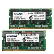 Crucial 20GB 20X1GB PC2700S DDR-333Mhz CL2.5 200Pin Non-ECC Laptop Memory Module
