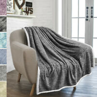 Sherpa Throw Blanket for Couch Sofa Twin Bed Reversible Soft Microfiber Fleece