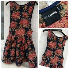 Para Mujer Chicas Asos Petite Vestido Estampado Floral Estilo UK2, Slater Vestido XS, Rústico ❤