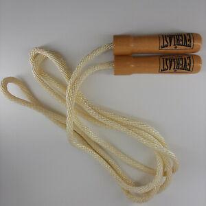 Everlast Jump Rope Wooden Handles Home Gym Equipment Fitness Training