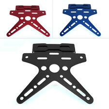New Black Motorcycle Scooter License Plate Holder Mount Tail Rear Bracket Frame