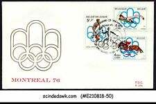 Belgium - 1976 Olympic Games Montreal - 3V - Fdc