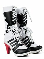 New High Quality Batman DC Comics Suicide Squad Harley Quinn Cosplay Boots Shoes