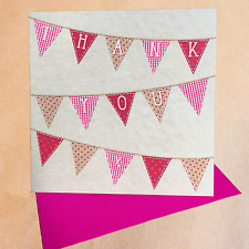 Bunting Thank You Cards Pack of 6 (Small)