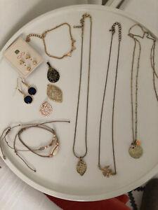 Schmuck GOLD Modeschmuck Konvolut boho ETHNO Paket Ketten Ohrringe Armbänder