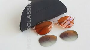 Oliver Peoples Aero 57-17 Silver w/ Fight Club Tangerine lenses & VFX OP lenses