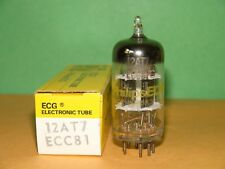 Unused Philips ECG Sylvania 12AT7 ECC81 Black Plates Vacuum Tube 5400|6100