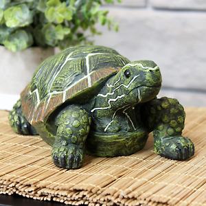 Large Turtle Tortoise Garden Statue Animal Wild Sculpture Outdoor Decor Accent