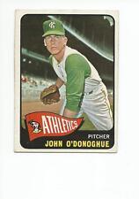 JOHN O'DONOGHUE 1965 Topps card #71 Kansas City A's VG+/EX