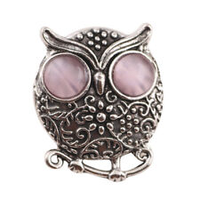 3DCrystal Owl Chunk Charm Snap Button Fit For Noosa Necklace/Bracelet NSKZ144