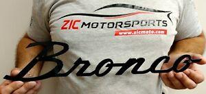 Ford Bronco Script Badge Heavy Duty Steel Metal Sign - Licensed