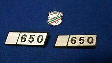 "SCRITTA ""650 "" LOGO STEMMA  FIAT 126 BADGE  SIGLA LATERALE POST. 2 PEZZI PLAST"