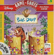 DISNEY GAME SHOTS BUG DROP Una Pazza Cascata Di Insetti Italian CD ROM Win/Mac
