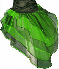 neon uv Green Black Bustle Burlesque Sequin tutu Skirt fancy costume dance party