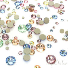 144 Mixed Sizes 2mm-6mm Swarovski 2058/2088 Flatback nail art BABY Colors