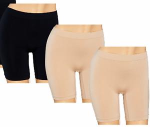 Breezies 3 Pack Seamless Microfiber Long Leg Panties Briefs Shorts A262701