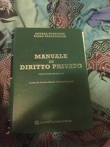 Manuale di diritto privato. Torrente - Schlesinger 2019 edizione verde