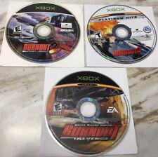 Burnout 2 Point of Impact + 3 Takedown + Revenge LOT Microsoft ORIGINAL Xbox