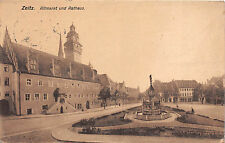 Zeitz Altmarkt und Rathaus  Postkarte 1918