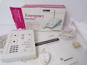 RADIO SHACK Personal Emergency Phone Dialer Plug 'N Power 49-2559 w/Pendant