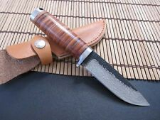New High-carbon Steel Handmade Forged Damascus Hunting Fixed Knife A39