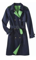 NEW! Phillip Lim 3.1 Women's Target 20th Anniversary Trench Coat Blue Jacket MED