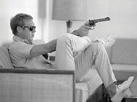 Time Life - Steve McQueen - Takes Aim - Ready Framed Canvas