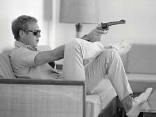 Time Life - Steve McQueen - Takes Aim - Ready Framed Canvas