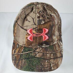 Under Armour Camouflage Women's Hat Snapback Pink Logo Cap Camo  Adjustable