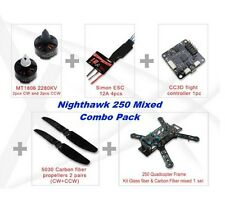 EMAX EMX-AC-1498 Nighthawk 250 Quadcopter Combo (Glass/Carbon Fiber Mixed Frame)