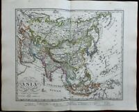 Asia China India European Colonies Islam & Buddhism 1862 Stulpnagel detailed map