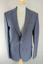 BRAND NEW WOOL BLEND BLUE/GREY JACKET: 34 INCH CHEST (TAILORED FIT)