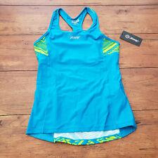 ZOOT Womens XL Performance Tri Top Blue Tribal Racerback Triathlon Shirt Cycling