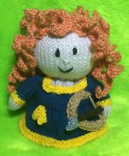 KNITTING PATTERN - Merida inspired choc orange cover / 14 cms Brave Princess toy
