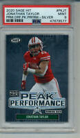 2020 JONATHAN TAYLOR PEAK SILVER PSA 9 MINT GRADED ROOKIE CARD COLTS BADGERS