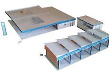 Freie Tankstelle mit Waschanlage und Waschboxen HO Epoche 5/6 Kartonbausatz 1:87