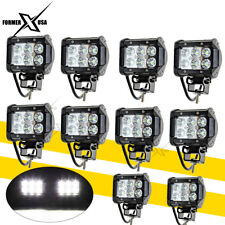 10x 4inch 36W LED Work Lights Pods Cube FLOOD Beam Offroad Fog Driving Light 12V