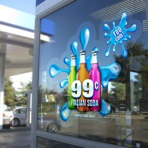 """Static Clear Window Graphic Clings Film 50"""" x82ft. Printable Graphics No Glue"""