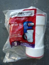 Charlotte Pipe & Foundry 4792958 3x3x3 in. Dia. Connectite PVC Sanitary Tee