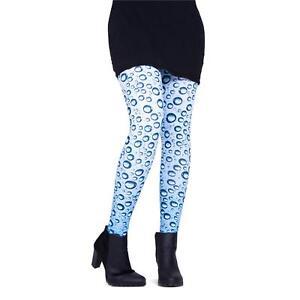 cosey – Damen Leggings Leggins bequem bunt Einheitsgröße – Design Waterdrops