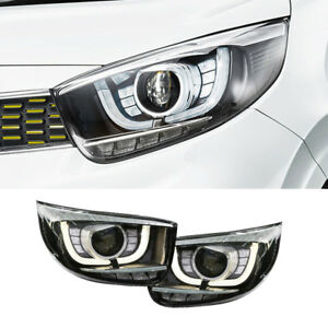 OEM Front LED Projection Head Light Lamp LH RH for KIA 2017-2019 Picanto Morning