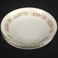"Set of 3 VTG Berry Bowls 5 1/2"" by Dansico Teahouse Rose Fine China Floral Japan"